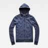 G-Star RAW® Core Hooded Zip Sweater Dark blue flat front