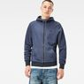 G-Star RAW® Core Hooded Zip Sweater Dark blue model front