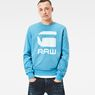 G-Star RAW® Core Art Sweater Medium blue model front