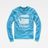 G-Star RAW® Core Art Sweater Medium blue flat front