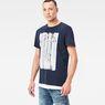 G-Star RAW® Pertos T-Shirt Dark blue model side