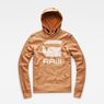 G-Star RAW® Core Art Hooded Sweater Beige flat front