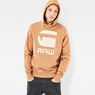 G-Star RAW® Core Art Hooded Sweater Beige model front