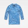 G-Star RAW® Splatter 3/4-Sleeve T-Shirt Light blue flat front