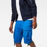 G-Star RAW® Rovic Loose 1/2-Length Cargo Shorts Medium blue model front