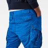 G-Star RAW® Rovic Loose 1/2-Length Cargo Shorts Medium blue model back zoom