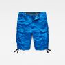 G-Star RAW® Rovic Loose 1/2-Length Cargo Shorts Medium blue flat front