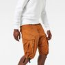 G-Star RAW® Rovic Loose 1/2-Length Cargo Shorts Orange model front