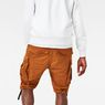 G-Star RAW® Rovic Loose 1/2-Length Cargo Shorts Orange model back