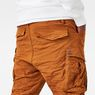 G-Star RAW® Rovic Loose 1/2-Length Cargo Shorts Orange model back zoom
