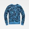 G-Star RAW® Dutch-Camo Core Sweater Light blue flat back