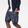 G-Star RAW® Rovic Loose 1/2-Length Cargo Shorts Dark blue model front