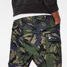 G-Star RAW® Rovic Loose 7/8-Length Cargo Pants Green model back zoom