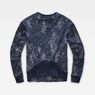 G-Star RAW® SK Fyx Biker Sweater Dark blue flat back