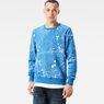 G-Star RAW® Splatter Core Sweater Light blue model front