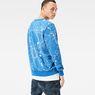 G-Star RAW® Splatter Core Sweater Light blue model back