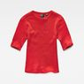 G-Star RAW® Silber Cropped T-Shirt Rot flat front