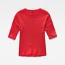G-Star RAW® Silber Cropped T-Shirt Red flat back