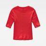 G-Star RAW® Silber Cropped T-Shirt Rot flat back