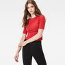 G-Star RAW® Silber Cropped T-Shirt Rot model front