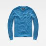 G-Star RAW® Affni Cable Knit Medium blue flat front