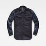 G-Star RAW® 3301 Hybrid Padded Overshirt Dark blue flat front