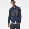G-Star RAW® Type C Army Overshirt Dark blue model front