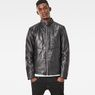 G-Star RAW® Deline Leather Jacket Black model front
