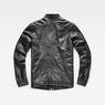 G-Star RAW® Deline Leather Jacket Black flat back