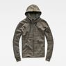 G-Star RAW® Stalt Hooded Zip Sweater Grey flat front