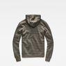 G-Star RAW® Stalt Hooded Zip Sweater Grey flat back