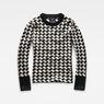 G-Star RAW® Evalak Jacquard Knit White flat front