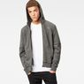 G-Star RAW® Rackam Hooded Zip Sweater Grey model front