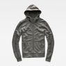 G-Star RAW® Rackam Hooded Zip Sweater Grey flat front
