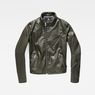 G-Star RAW® Empral Slim Biker Jacket Green flat front