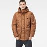 G-Star RAW® Whistler Twill Hooded Short Jacket Brown model front