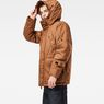 G-Star RAW® Whistler Twill Hooded Short Jacket Brown model side