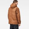 G-Star RAW® Whistler Twill Hooded Short Jacket Brown model back