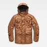 G-Star RAW® Whistler Twill Hooded Short Jacket Brown flat front