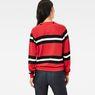 G-Star RAW® Xula Cropped Raglan Sweater Red model back