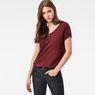 G-Star RAW® Nola Straight Granddad T-Shirt Red model front