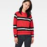G-Star RAW® Xula Cropped Raglan Sweater Red model front