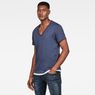 G-Star RAW® Base Heather T-Shirt 2-Pack Medium blue model side