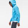 G-Star RAW® Xondo Hooded Zip Sweater Medium blue model side