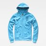 G-Star RAW® Xondo Hooded Zip Sweater Medium blue flat front