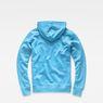 G-Star RAW® Xondo Hooded Zip Sweater Medium blue flat back