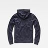 G-Star RAW® Xondo Hooded Zip Sweater Dark blue flat back