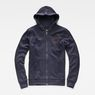 G-Star RAW® Xondo Hooded Zip Sweater Dark blue flat front