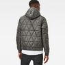 G-Star RAW® Strett Utility Quilted Hooded Jacket Grey model back