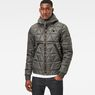 G-Star RAW® Strett Utility Quilted Hooded Jacket Grey model front